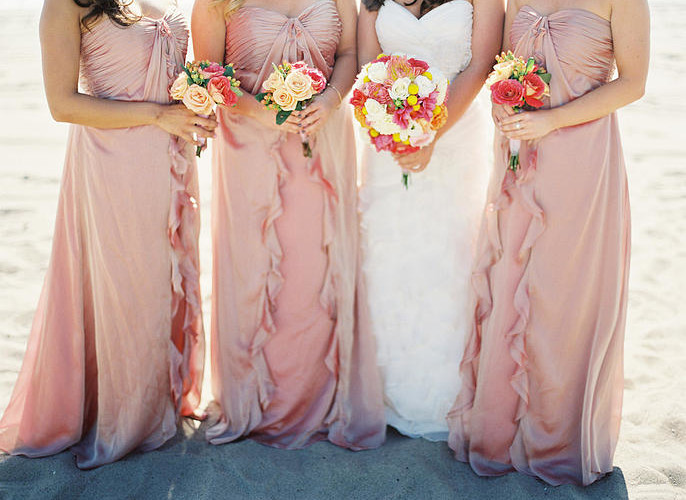 Peach Bridesmaid Dresses from Petal & Leaf Events