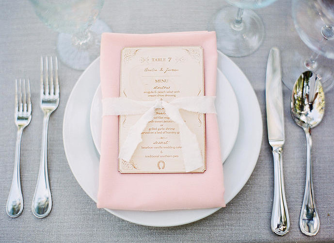 Peach and White Wedding Decor from Petal & Leaf Events