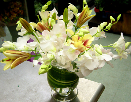 orchids and lillies